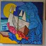 La Muse du lagon 90x90