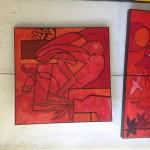 L'atelier rouge 60x60cm